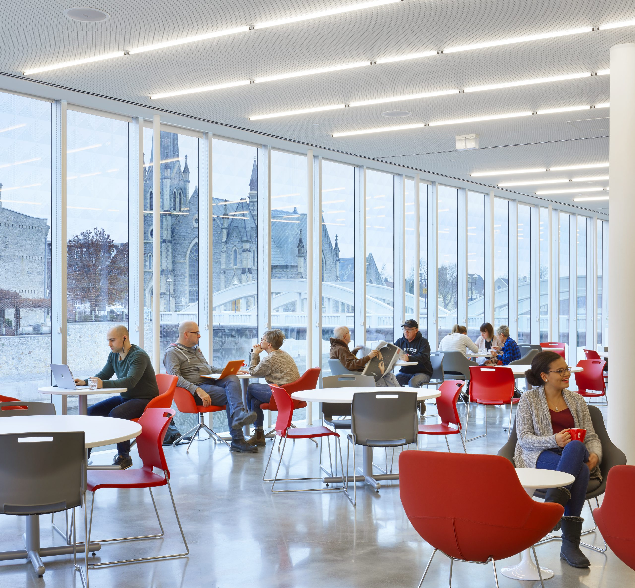 The Idea Exchange Old Post Office, Ontario, Canada <br> Design: RDH Architects / Photograph: Tom Arban