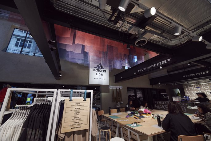 Adidas Flagship Store London <br> Photograph: Tony Barwell